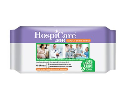 Hospicare 40R Wet Wipes, 30cm x 20cm 40pc/pk