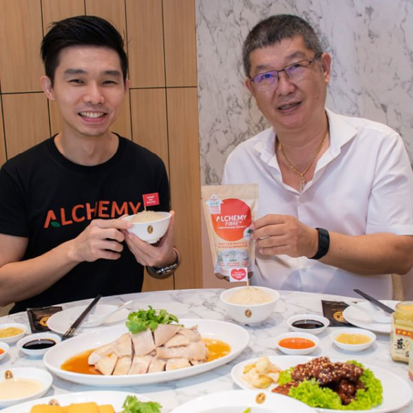 boon tong kee director mr wong and alan phua with alchemy fibre