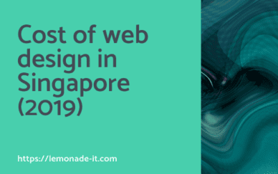 Cost of Web Design in Singapore for 2019